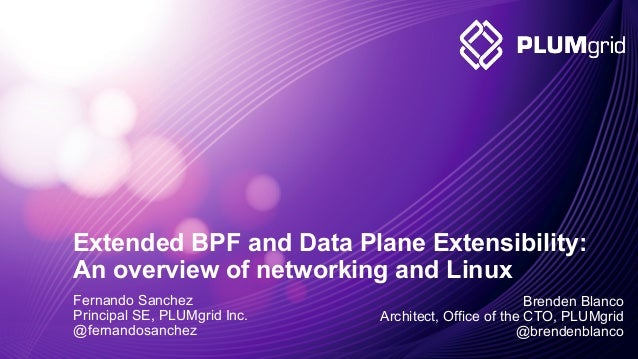 2011-2014 © PLUMgrid - Confidential Information Extended BPF and Data Plane Extensibility: An overview of networking and L...