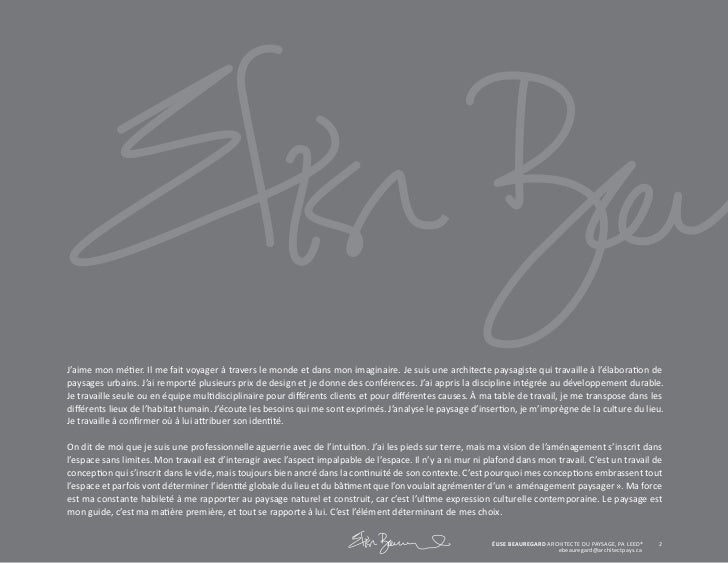 Ebeauregard Portfolio complet Slide 2