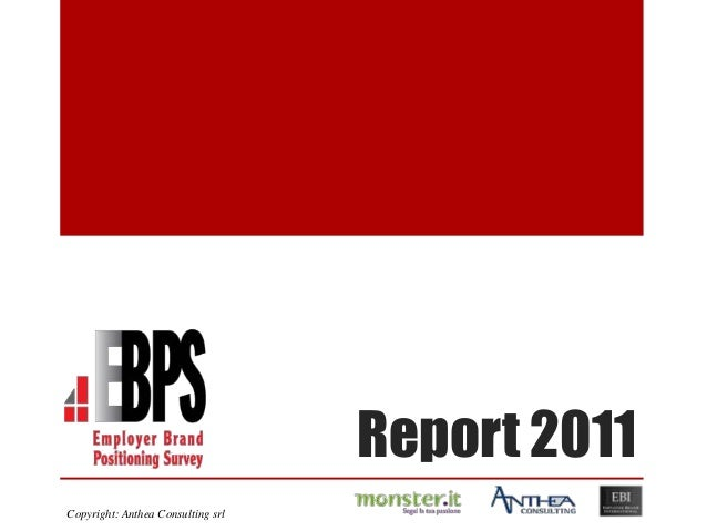 Report 2011Copyright: Anthea Consulting srl