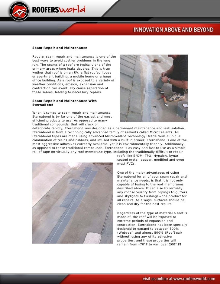 Seam Repair and Maintenance  Regular seam repair and maintenance is one of the best ways to avoid costlier problems in the...