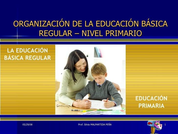 ORGANIZACIÓN DE LA EDUCACIÓN BÁSICA REGULAR – NIVEL PRIMARIO EDUCACIÓN PRIMARIA LA EDUCACIÓN BÁSICA REGULAR