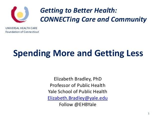 1 Elizabeth Bradley, PhD Professor of Public Health Yale School of Public Health Elizabeth.Bradley@yale.edu Follow @EHBYal...