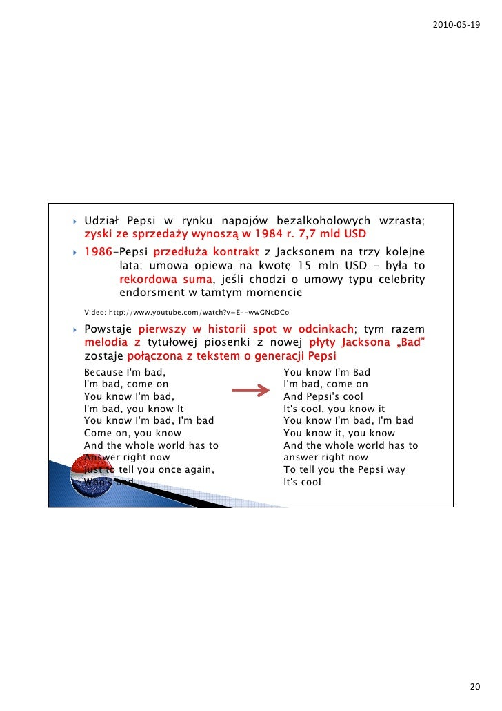 pepsi case study 19 Pepsico's swot analysis (strengths, weaknesses, opportunities, threats) is shown in this case study on internal & external strategic factor recommendations.