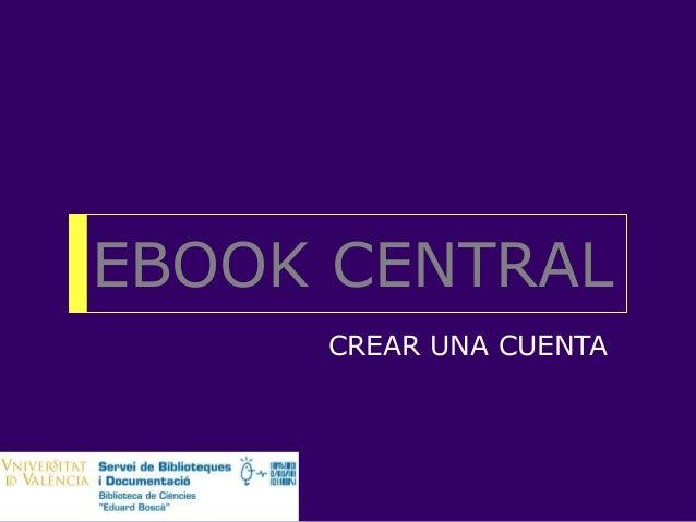 EBOOK CENTRAL CREAR UNA CUENTA