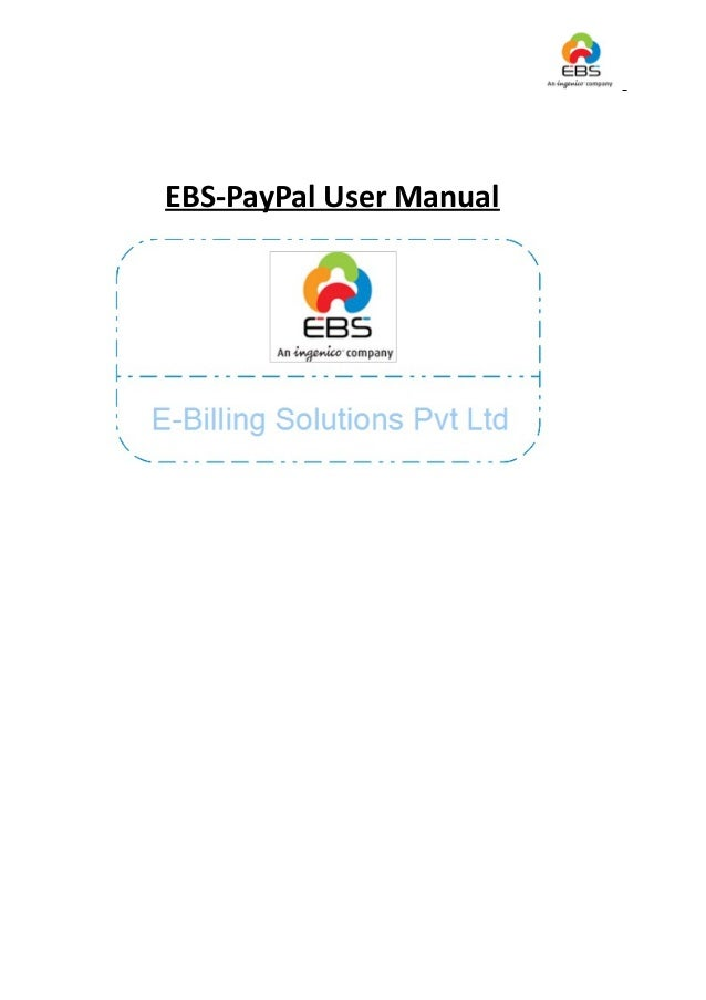 EBS-PayPal User Manual