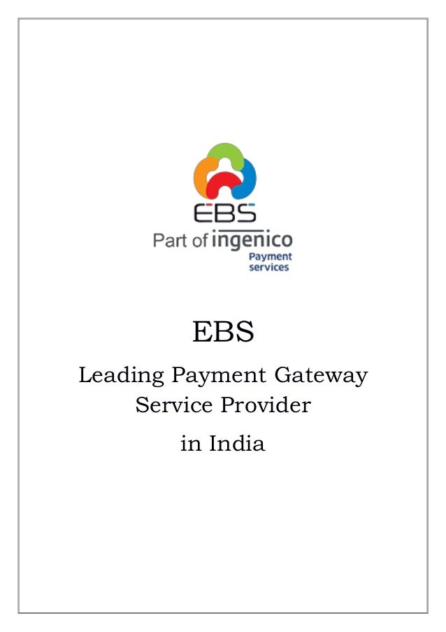 EBS Leading Payment Gateway Service Provider in India