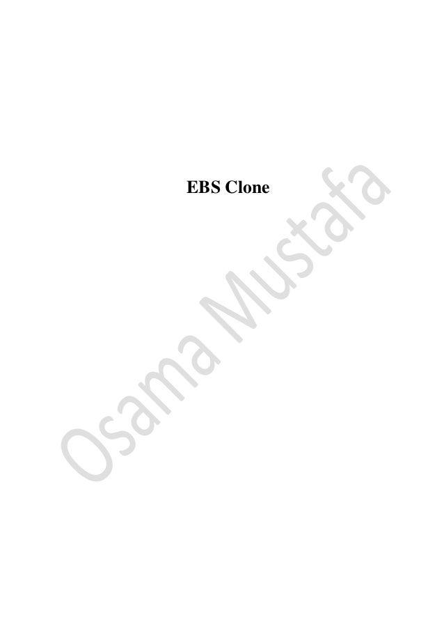 EBS Clone