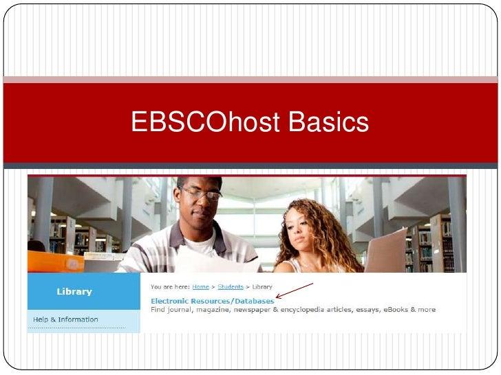 EBSCOhost Basics