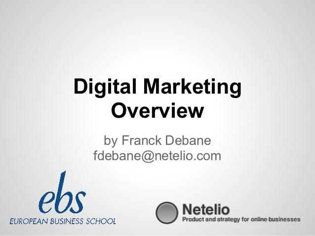 Digital Marketing    Overview    by Franck Debane  fdebane@netelio.com