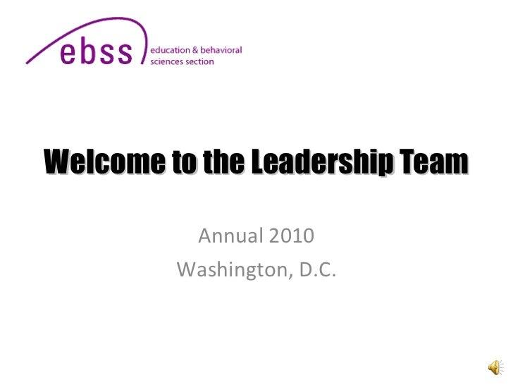 Ebss New Leader 2010 Rev 060410