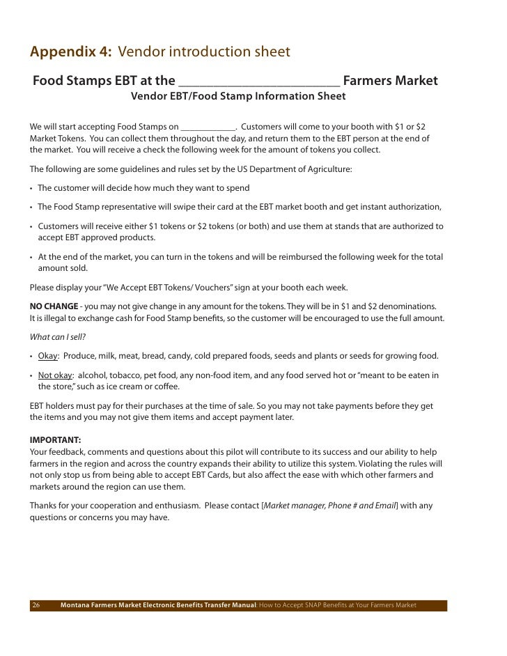 Montana farmers market ebt manual how to accept snap benef its at your farmers market 26 ccuart Images