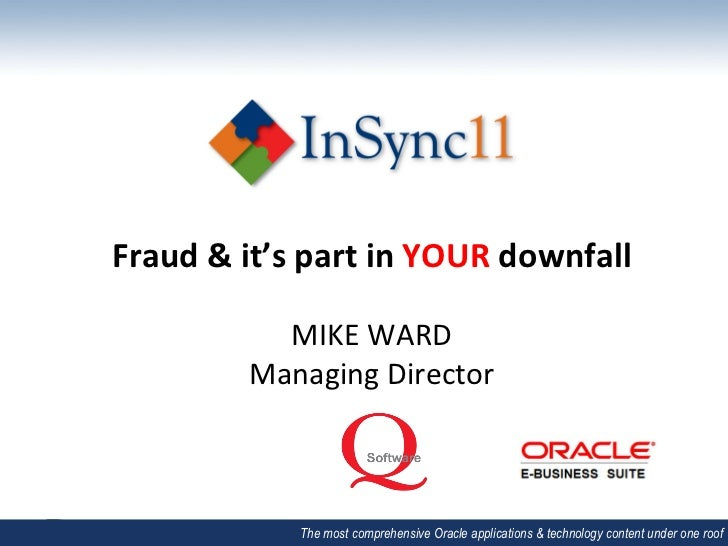 Fraud & it's part in YOUR downfall                                             MIKE WARD              ...