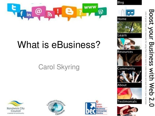 What is eBusiness?Carol Skyring