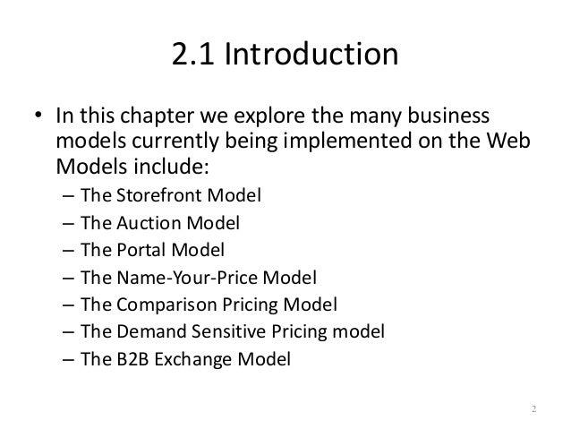 E business models Slide 2