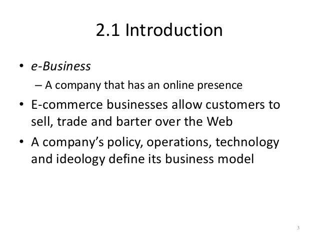 E business models Slide 3