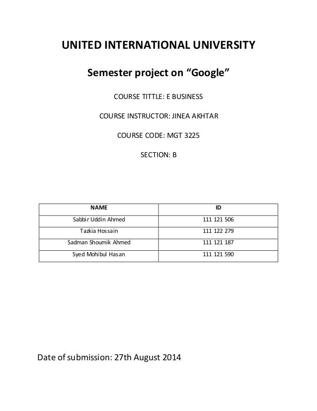 Financial Analysis and Website Performance of Google