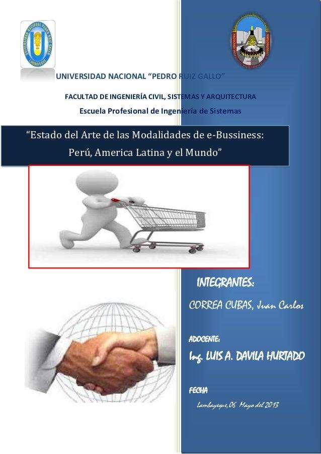 INTEGRANTES:CORREA CUBAS, Juan CarlosADOCENTE:Ing. LUIS A. DAVILA HURTADOFECHALambayeque,06 Mayo del 2013UNIVERSIDAD NACIO...