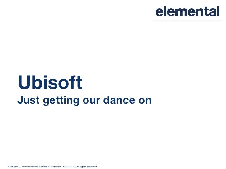 Ubisoft Just getting our dance on