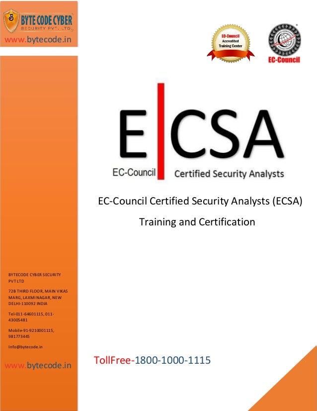 ec council ecsa security cyber code pvt byte v8 course ltd certification slideshare certified