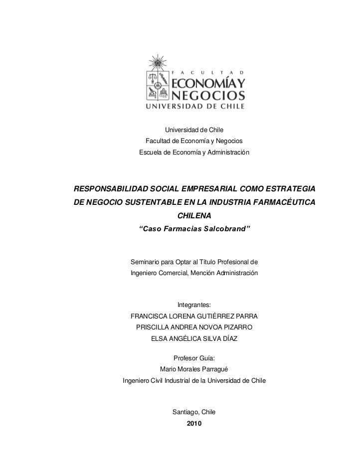 Universidad de Chile                  Facultad de Economía y Negocios                Escuela de Economía y AdministraciónR...