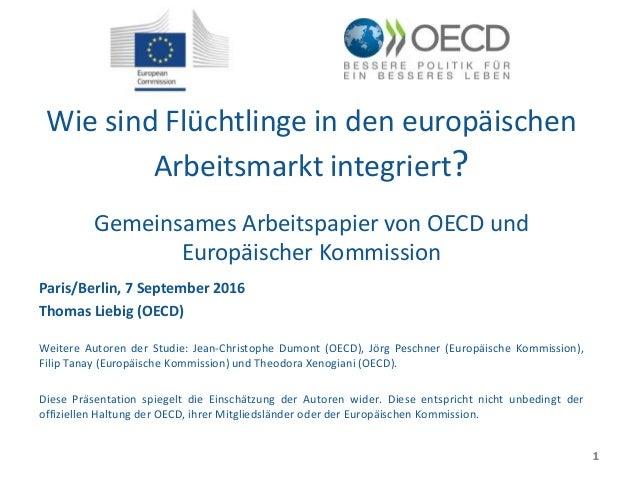 Wie sind Flüchtlinge in den europäischen Arbeitsmarkt integriert? Gemeinsames Arbeitspapier von OECD und Europäischer Komm...