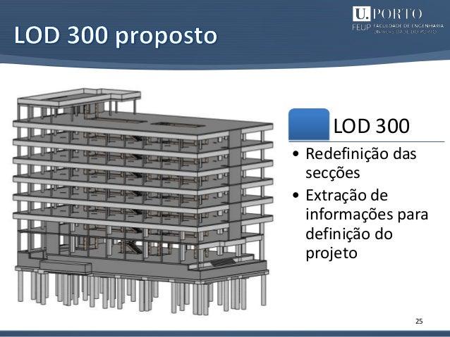 25 LOD 300 • Redefinição das secções • Extração de informações para definição do projeto