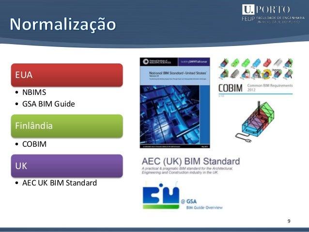 9 EUA • NBIMS • GSA BIM Guide Finlândia • COBIM UK • AEC UK BIM Standard