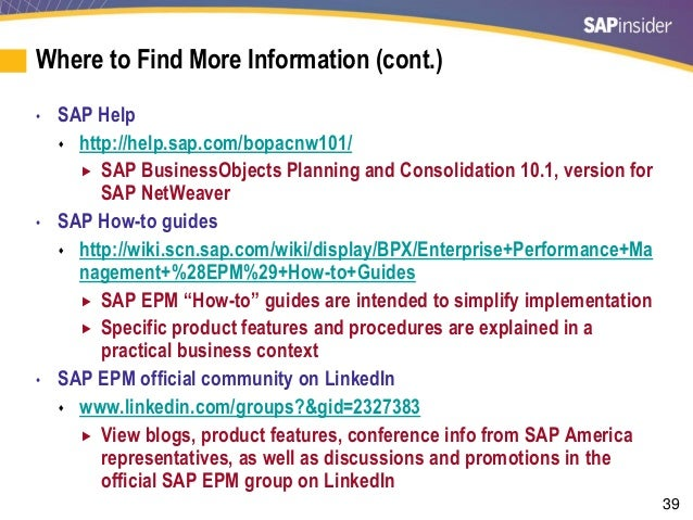 Sap business planning and consolidation wikipedia joey