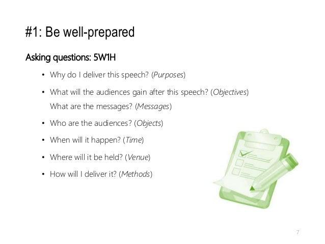well prepared presentation