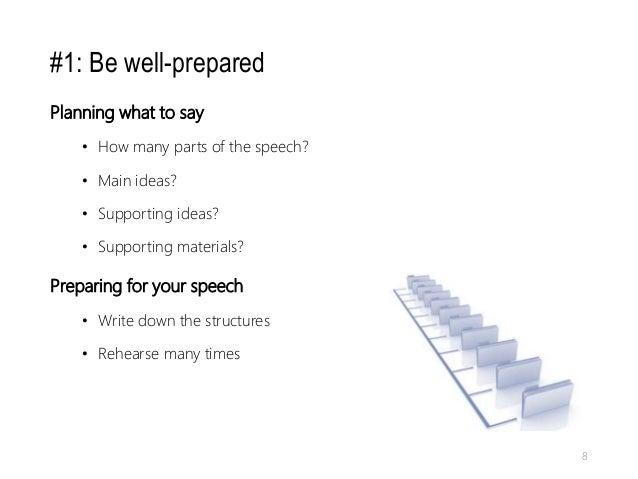 prepare for presentation