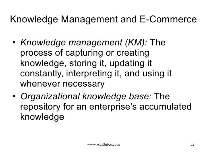 Knowledge management in ec e commerce