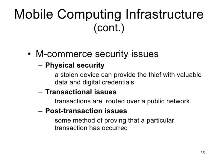 mobile commerce and pervasive computing Mobile commerce: vision and challenges (panel electronic commerce and pervasive computing • what benefits does pervasive computing bring to mobile commerce.