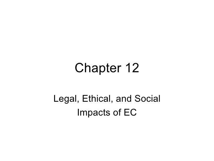 Chapter 12 Legal, Ethical, and Social Impacts of EC