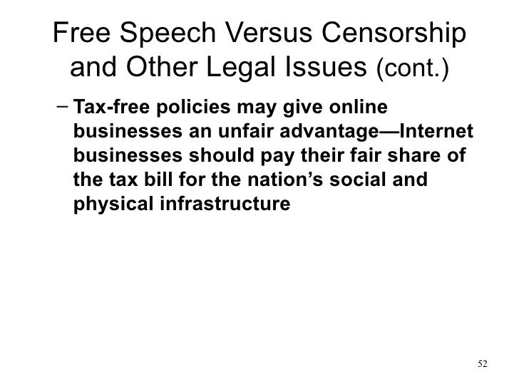 ethical issues of internet censorship Censorship and free speech  policy and/or laws regarding internet censorship in various countries  resources on censorship and free speech issues.