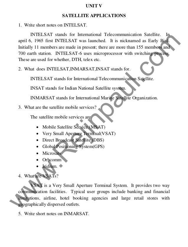 ec2045 satellite communication notes pdf