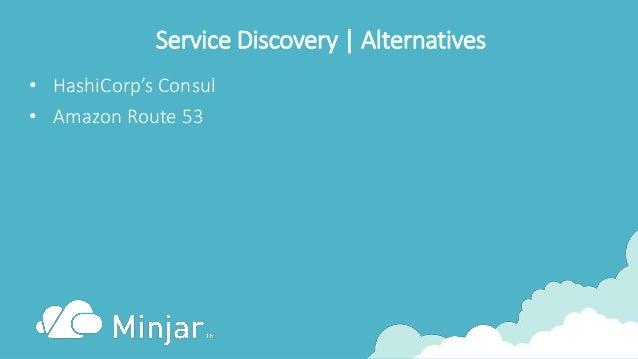 Service Discovery | Alternatives • HashiCorp's Consul • Amazon Route 53