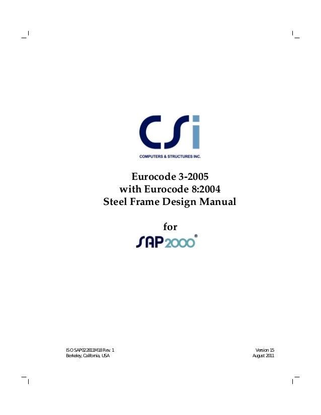 Sap2000 steel design manual
