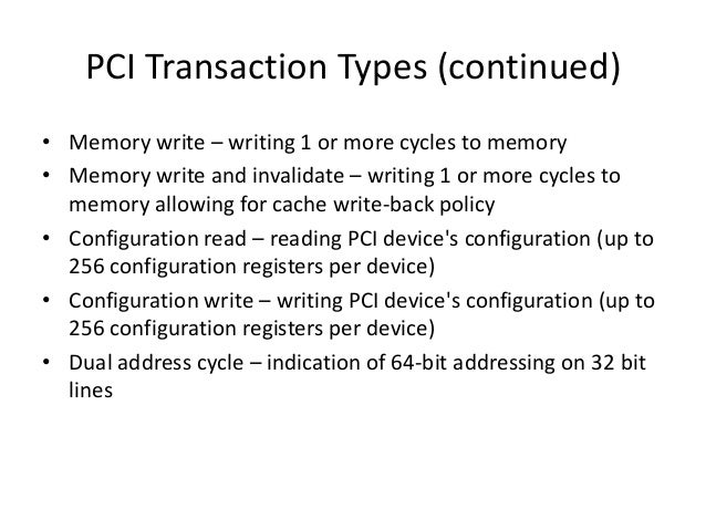 pci memory write and invalidate synonyms