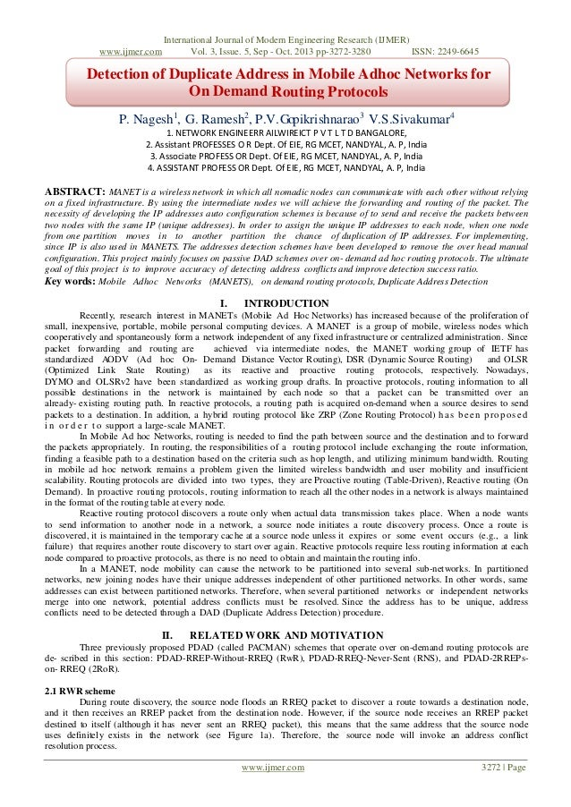 www.ijmer.com  International Journal of Modern Engineering Research (IJMER) Vol. 3, Issue. 5, Sep - Oct. 2013 pp-3272-3280...