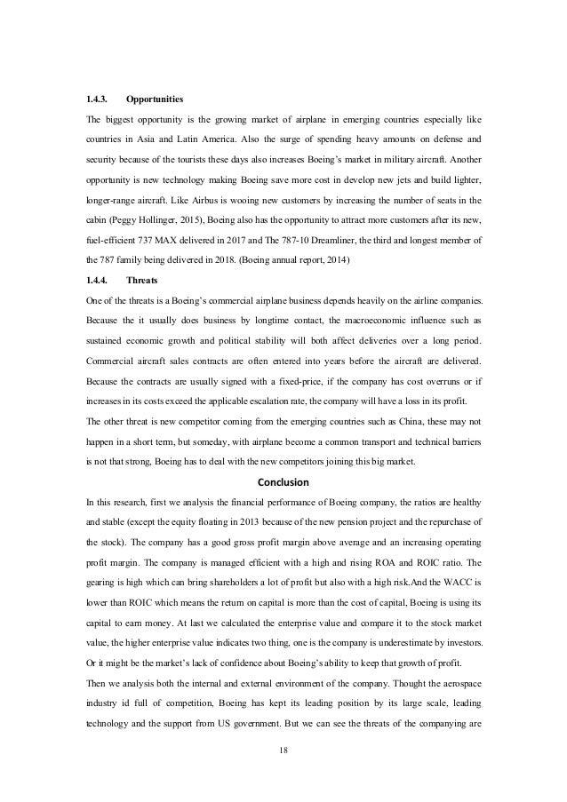 Boeing business analysis