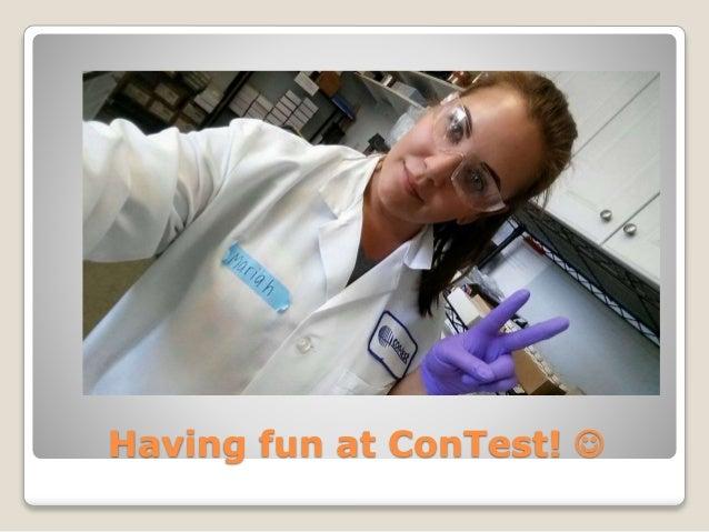 Having fun at ConTest! 