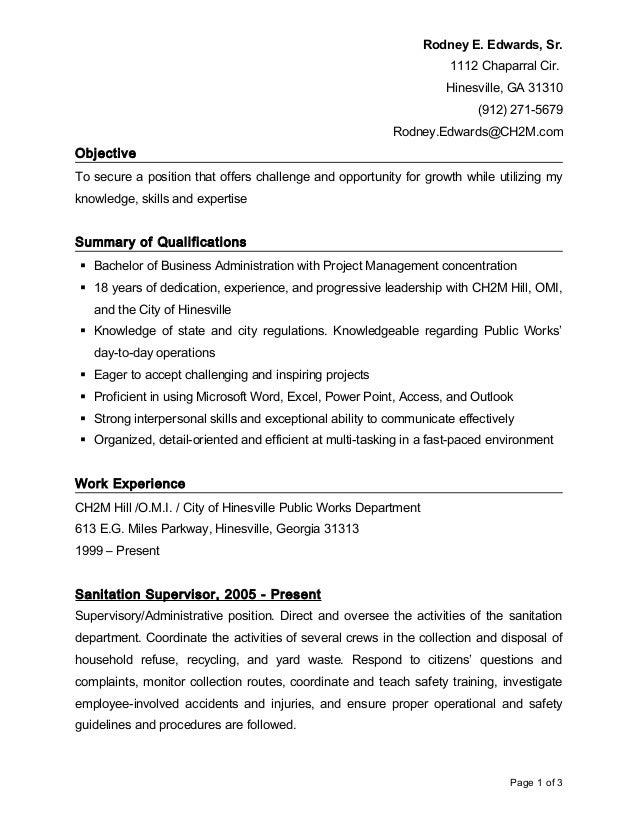 rodney resume