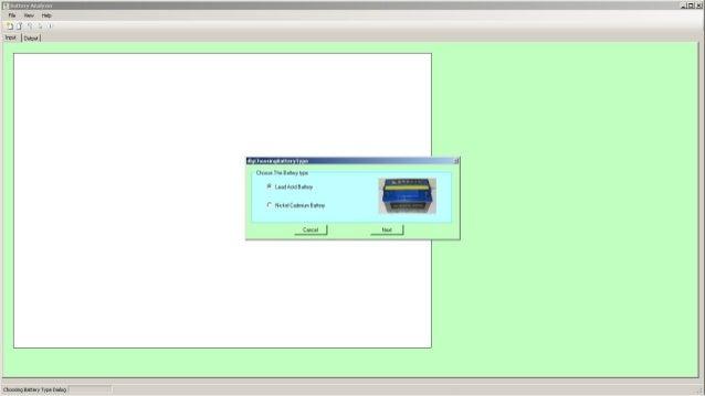 Battery Analyser Slide 2