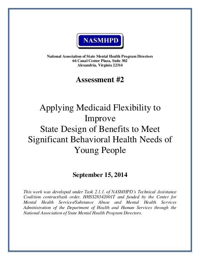 Rider Nasmhpd Assmt 2 Medicaid Bh Flexibility For Youth 09 14