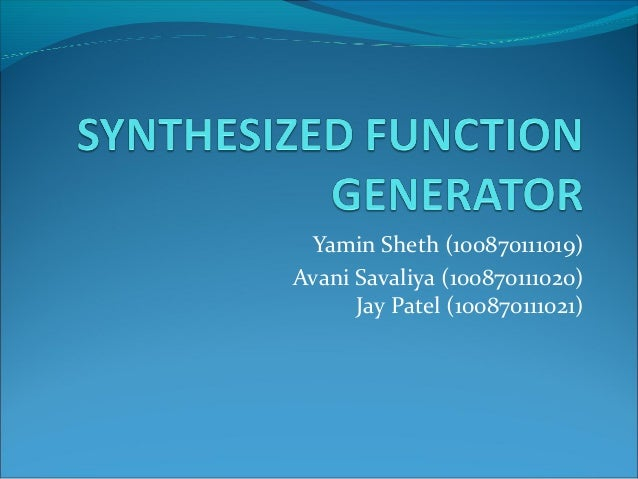 synathesized function generator