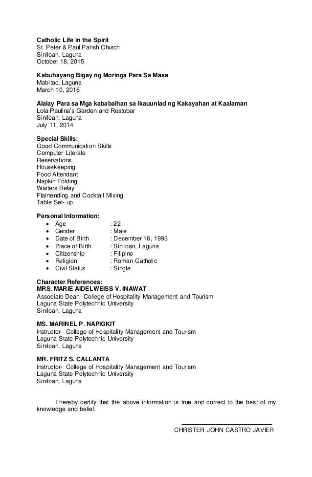 world wide link resume 2 - Special Skills For Housekeeping