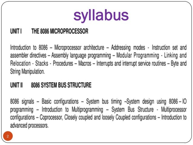 Microprocessor and interfacing by a.k.ray