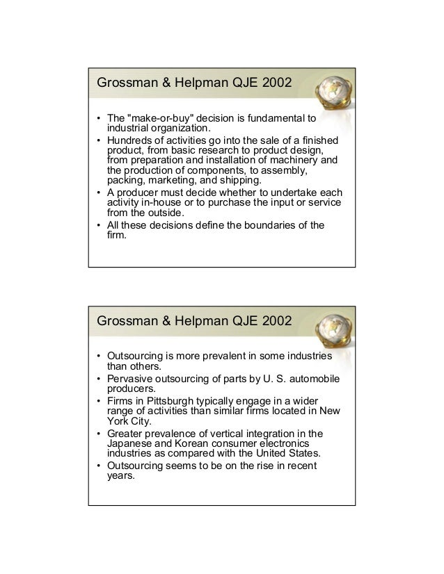 """the grossman helpman model Interview with elhanan helpman  with gene grossman of princeton, helpman pioneered the extension of """"new growth theory""""—the idea that information, ideas and ."""