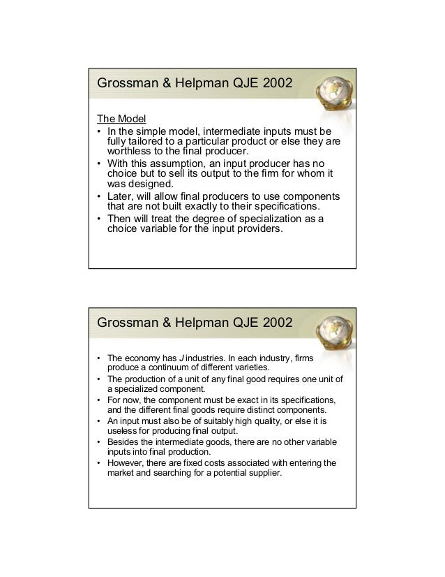 What is the basic of Grossman-Helpman model of economic growth?