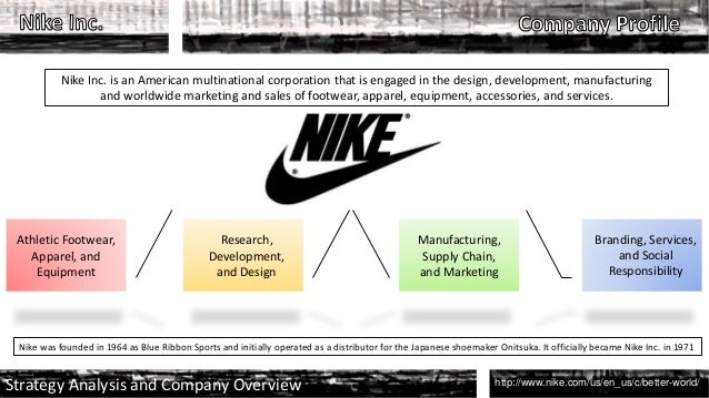 nike mnc Nike is brand that designs, develops and sells athletic gear and sports products, such as apparel, footwear, equipment and other accessories it also has other subsidiaries, including nike golf, hurley and converse incorporated in 1969, nike has continued to be a popular brand in the sports.